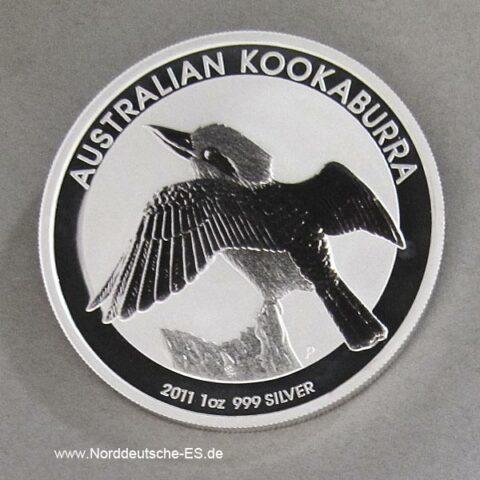 Australien 1 oz Silber Kookaburra 2011