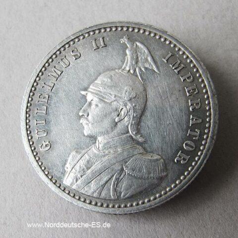 Deutsch Ostafrika 1_4 Rupie Silber Wilhelm II 1891-1901