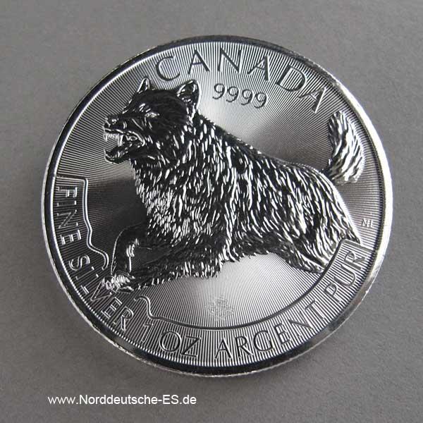 Kanada 1 OZ Silber Predator Wolf 2018