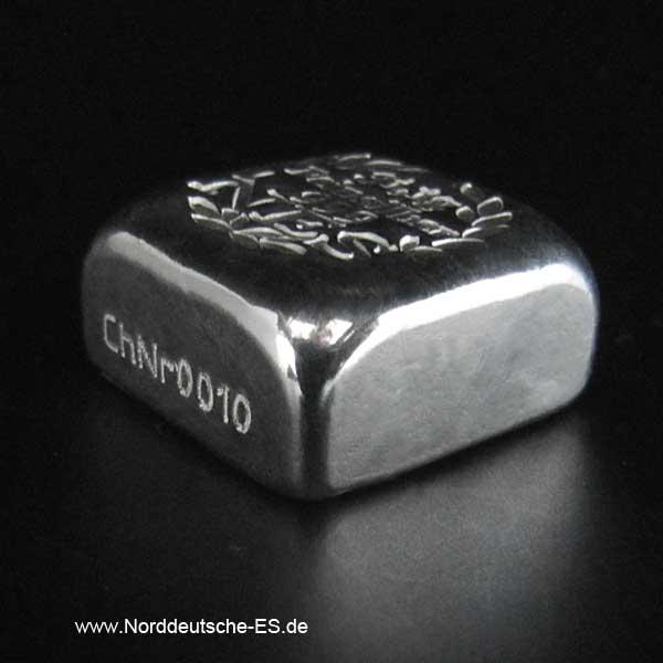 Feinsilberbarren 9999 Quadratisch Gussbarren 1 OZ Norddeutsche ES