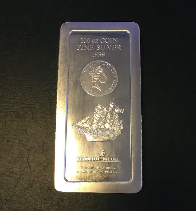 Silber Münzbarren 100 oz