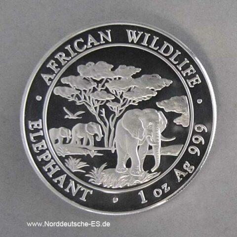 Silbermünze 1 oz African Wildlife Elephant