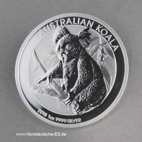 Australien 1 oz Koala Silbermünze 2018