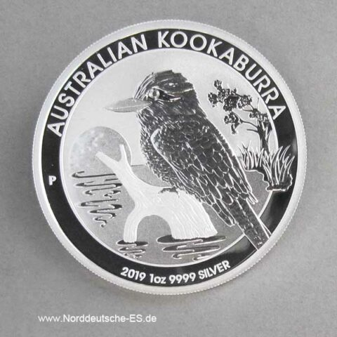 Australien 1 oz Silber Kookaburra 2019