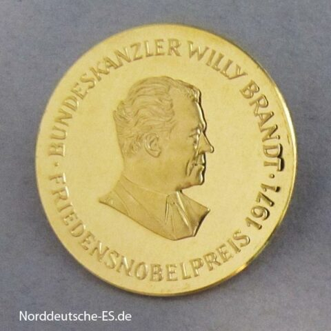 Deutschland Goldmedaille Friedensnobelpreis 1971 Willy Brandt