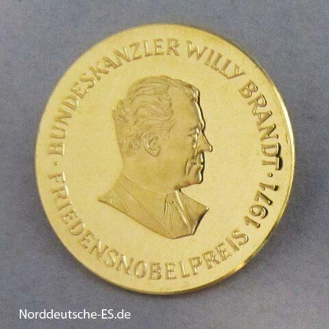 Deutschland Goldmedaille Friedensnobelpreis 1971 Willy Brandt