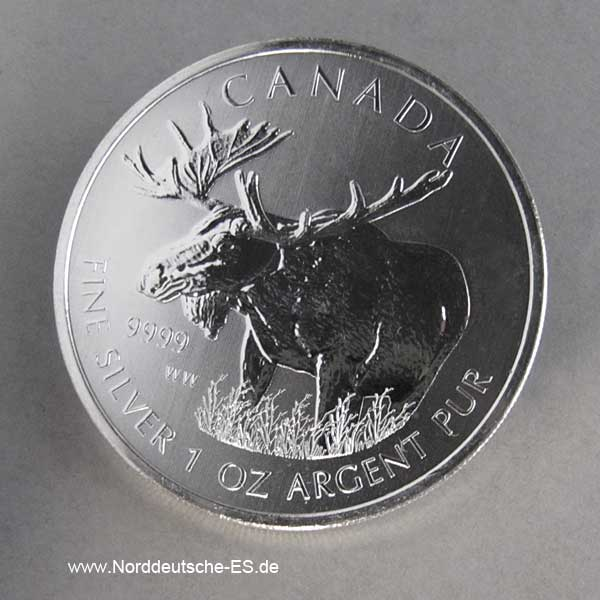 Kanada 1 oz Silber Elch 2012 Wildlife Serie