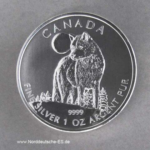 Kanada 1 oz Silber Wolf 2011 Wildlife Serie