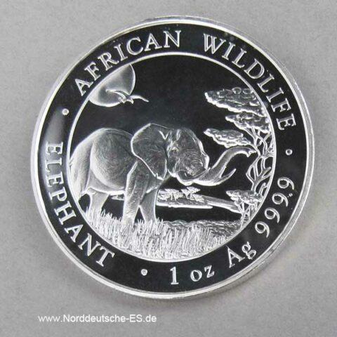 Somalia African Wildlife 1 oz Elephant 2019