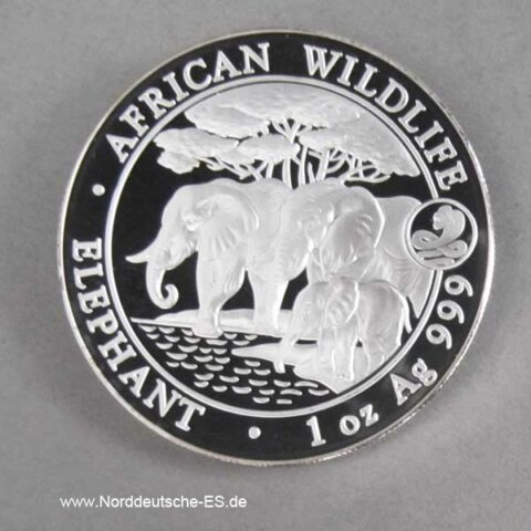 Somalia African Wildlife 1 oz Elephant 2013 Privy Mark Jahr der Schlange