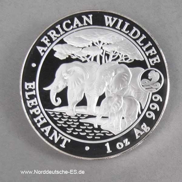 Somalia African Wildlife 1 oz Elephant 2013 Privy Mark Jahr der Schlange