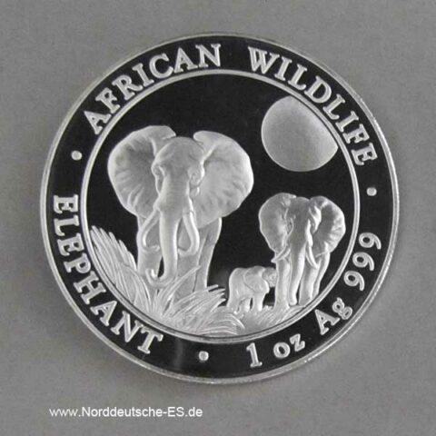 Somalia Elephant 1oz Silber 2014 African Wildlife