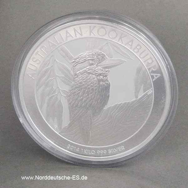 Australien 1 Kilo Silber Kookaburra 2014