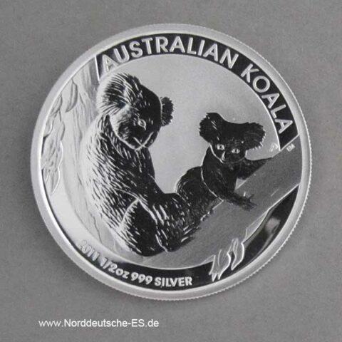 Australien Koala 1_2 oz 2011 Silber