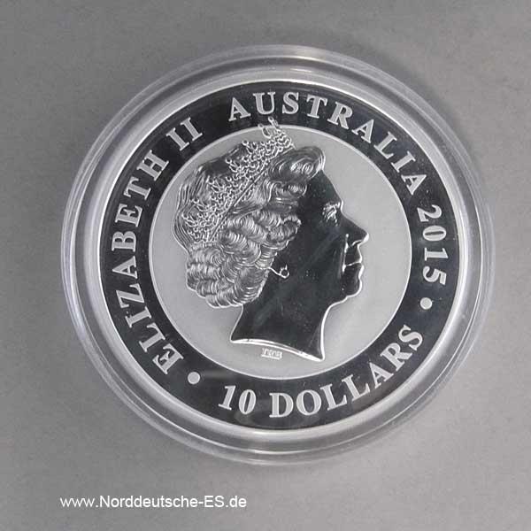 Australien Kookaburra 10 OZ Silber 25 Jahre Sonderedition 1990-2015