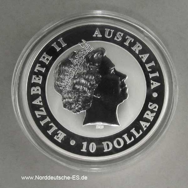 Australien Kookaburra 10 Oz Silber