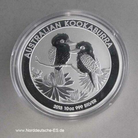 Australien Kookaburra 10 Oz Silber 2013