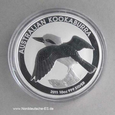 Australien Kookaburra 10 Oz Silber 2011