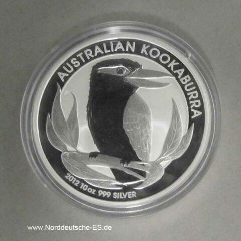 Australien Kookaburra 10 Oz Silber 2012