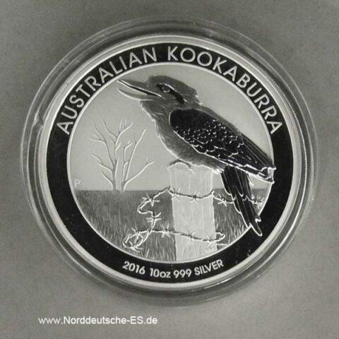Australien Kookaburra 10 Oz Silber 2016