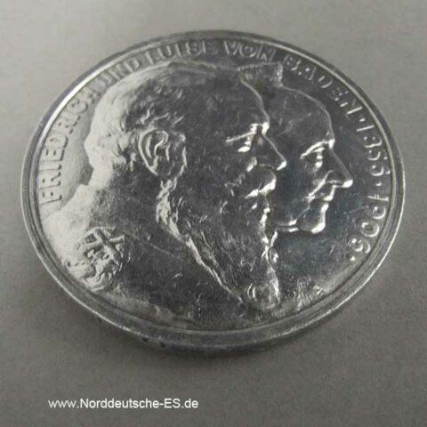 5 Mark Friedrich und Luise von Baden 1906