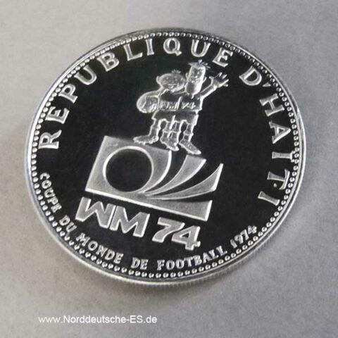 Haiti 25 Gourdes 1973 Fussball WM 1974