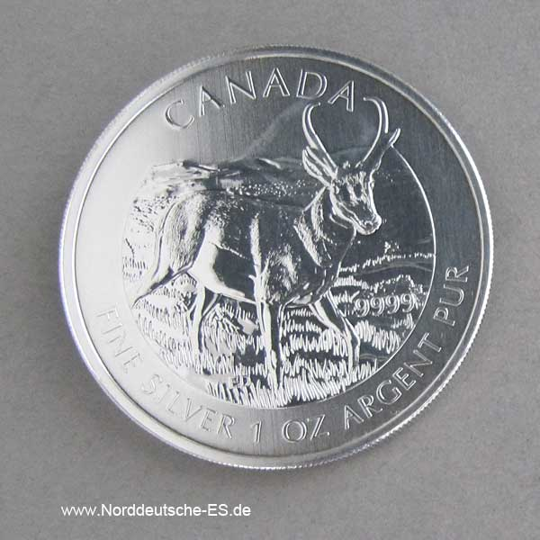Kanada 1 oz Silber Antilope Wildlife Serie 2013
