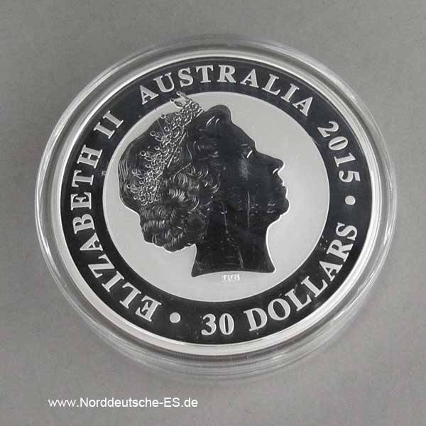 Kookaburra 1 kg Silber 25 Jahre Sonderedition 1990-2015