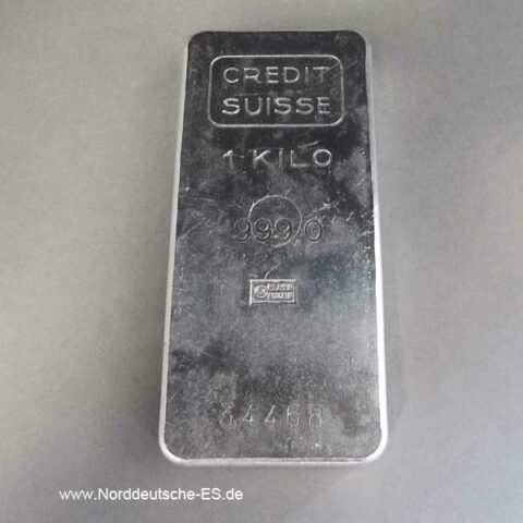 Silberbarren 1 Kilogramm Credit Suisse