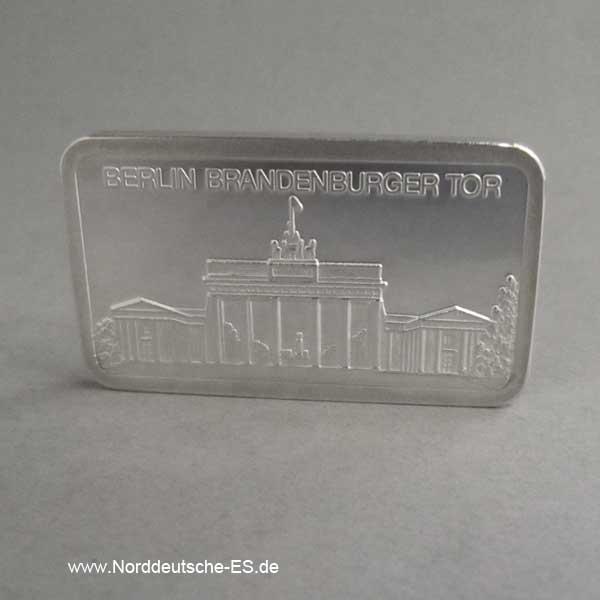 Silberbarren 1 oz Berlin Brandenburger Tor 999 Feinsilber