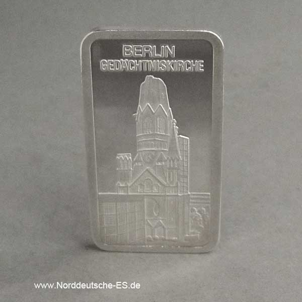 Silberbarren 1 oz Berlin Gedächtniskirche 999 Feinsilber
