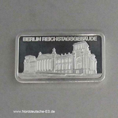 Silberbarren 1 oz Berlin Reichstag 999 Feinsilber