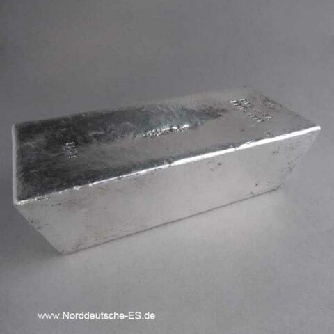 Silberbarren 5 Kilo Degussa historisch Feinsilber 999