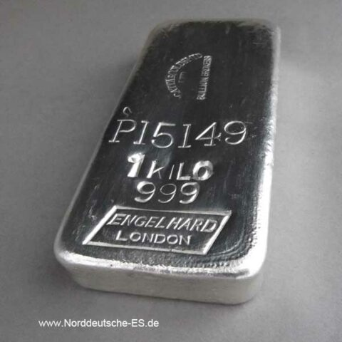 Silberbarren Engelhard London 1 Kilo Mocatta Goldsmid LTD