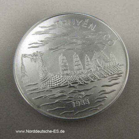 Vietnam 100 Dong Silber 1988 Drachenboot Thuyen