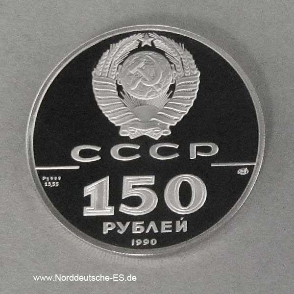 Russland 150 Rubel Platin 1990