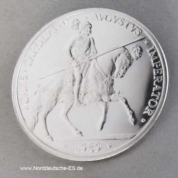 Spanien 5 ECU 1989 Carolus V Silbermuenze.jpg