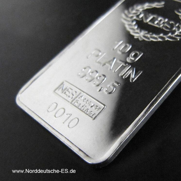 10 g Platinbarren 999.5 Norddeutsche ES Norderstedt
