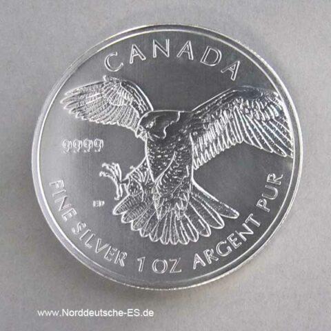 Kanada 1 oz Silbermünze Wanderfalke 2014