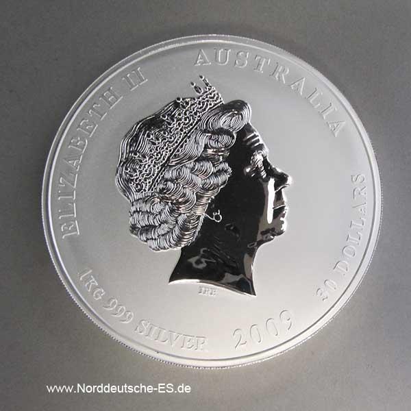 Lunar II Silbermünze Ochse 1 Kg