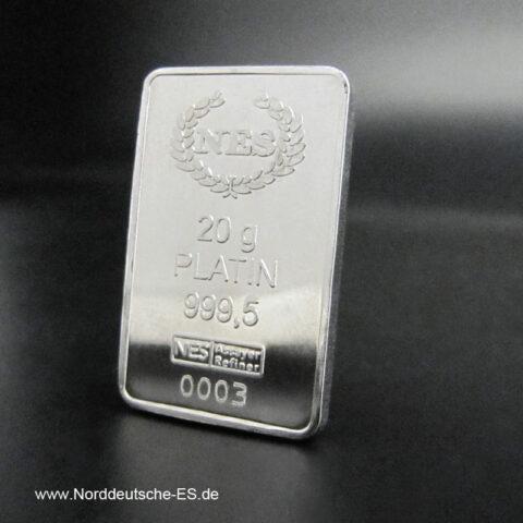 20 g Platinbarren 999.5