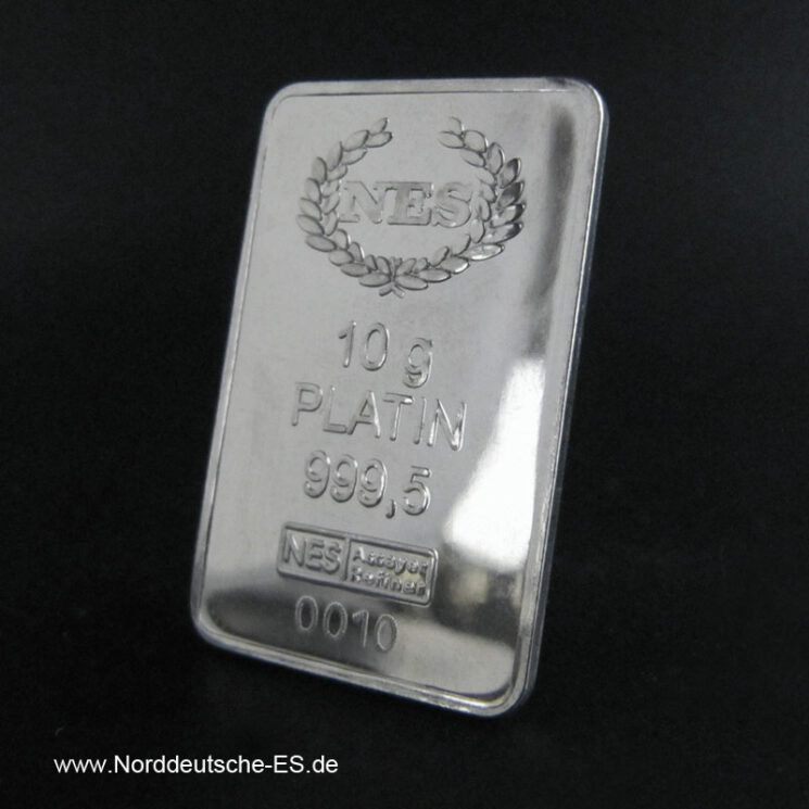 10 g Platinbarren 999.5