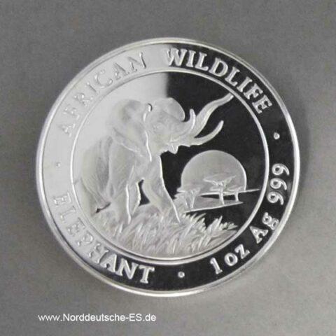 Somalia Elephant 1 oz Silber 2009