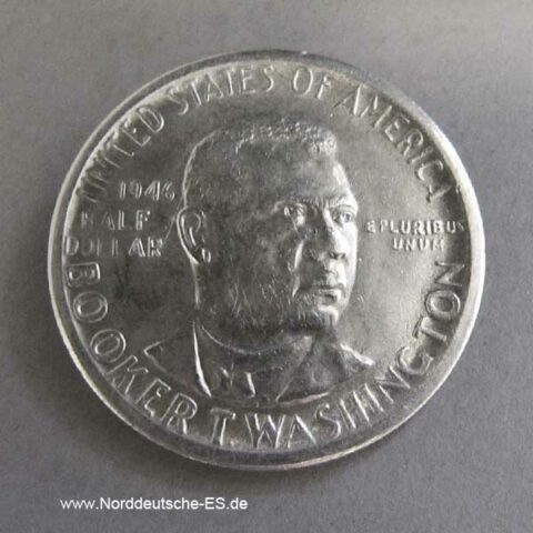 USA Half Dollar Silber Booker T Washington 1946-1951