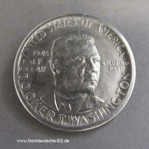 USA Half Dollar Silber Booker T Washington 1946-1951