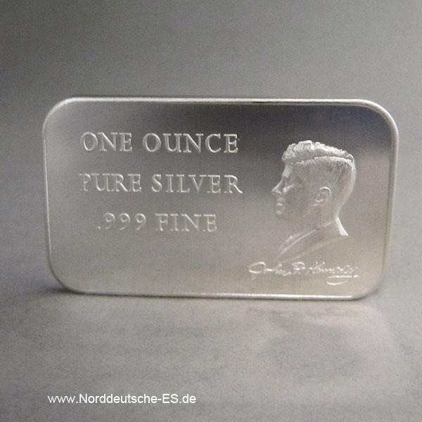 USA Silberbarren 1 oz Madison Mint John F Kennedy