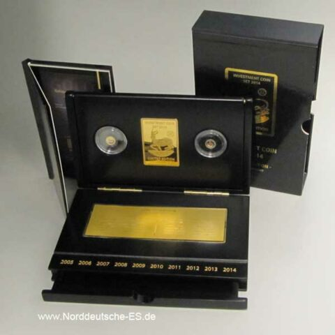 Gabun Investment Coin Set 2014 Jubilee 10th Anniversary