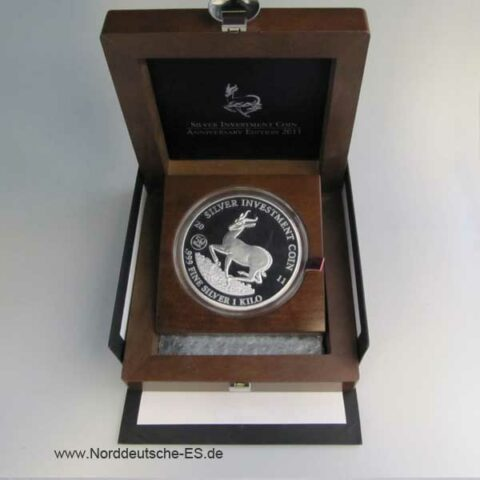 Malawi 1 Kilo Silber Investment Coin Anniversary Edition 2011