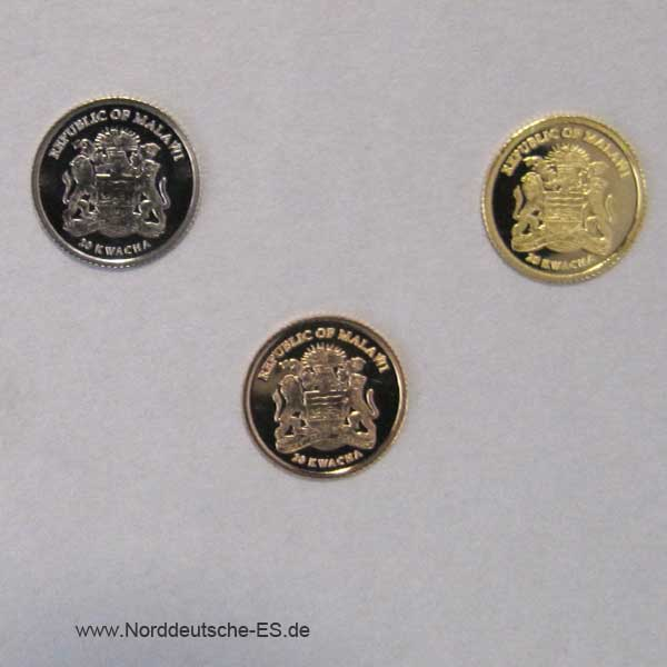 Malawi Investment Coin-Set Gold 2007
