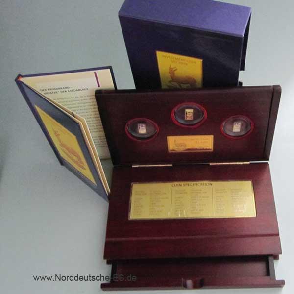 Malawi Investment Coin-Set 2008 Gold Silber Palladium